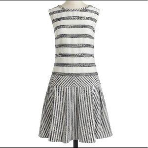 J crew Tweed Pleated Mini Dress